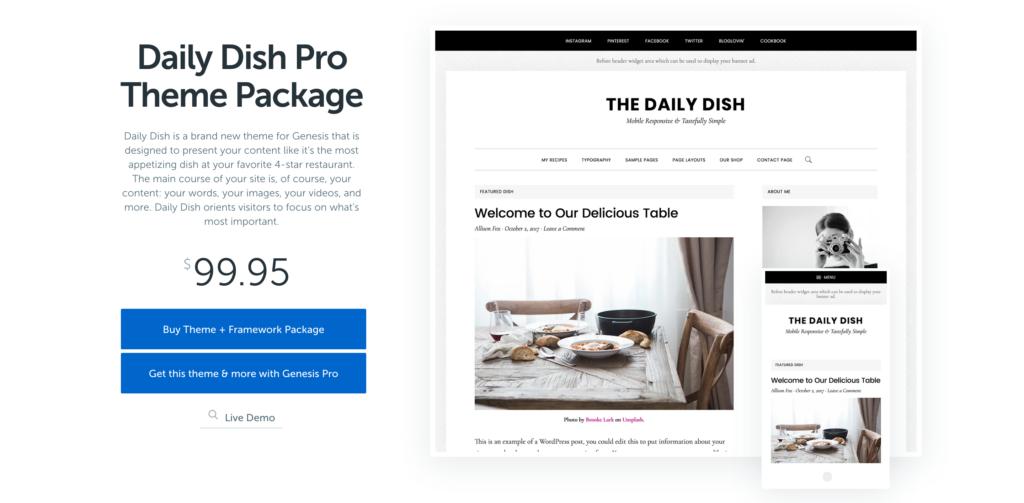 Daily Dish Pro Theme by StudioPress