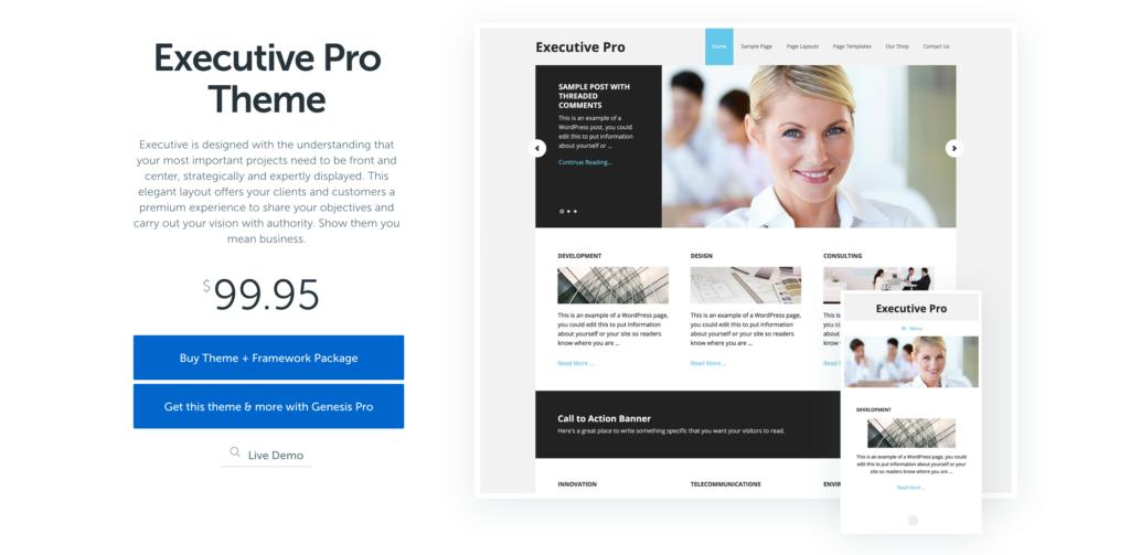 Executive Theme by StudioPress