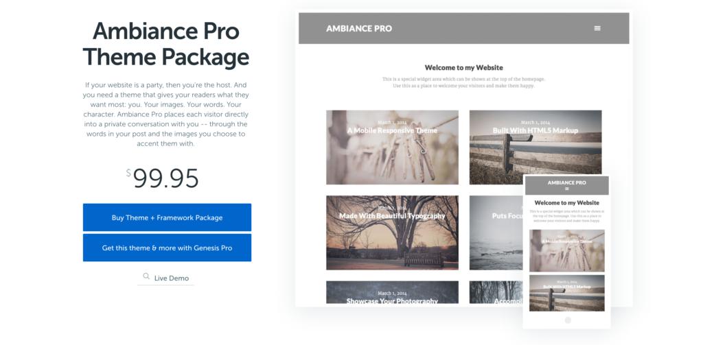 Ambiance Pro Theme by StudioPress