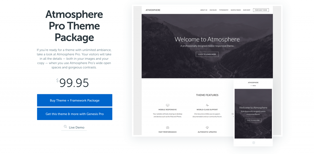 Atmosphere Pro Theme by StudioPress