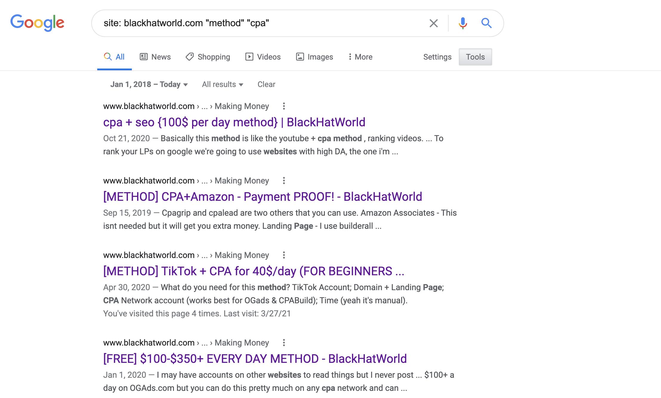 Google CPA Search