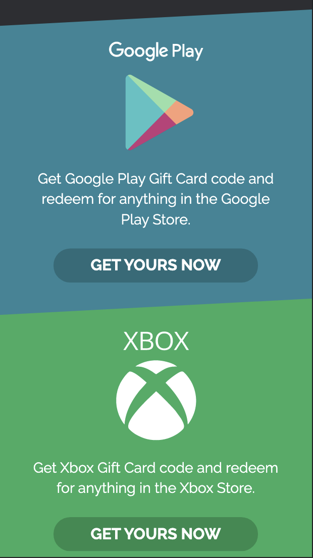 Gift Card CPA Content Locking